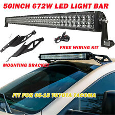 50inch 672W CREE LED LIGHT BAR + Mounting brackets fir for 05-2015 Toyota Tacoma