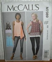 Womens/Misses Awesome Pullover Tops Sewing Pattern/McCall's M7389/SZ 14-22/UCN