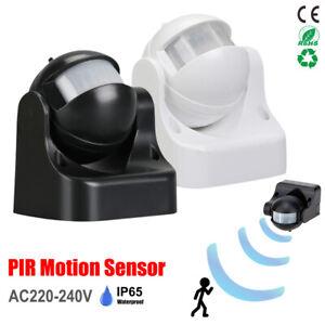 PIR Bewegungsmelder Außen Aufputz Wand Infrarot Sensoren 180° LED Wasserdicht DE