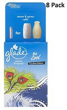 8 x Glade Sense and Spray Refill Be Cool 18ml