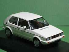 Volkswagen VW Golf I GTI 1983 weiss white minichamps 1:43 Oldtimer Modellauto