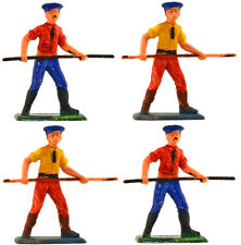 Dulcop - 4 Workmen  - 54mm painted plastic toy soldiers