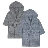 Boys 2 Tone Snuggle Dressing Gown / Robe ~ 2-13 Years