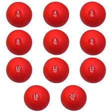 Set of 11 (110kg, 3kg-20kg) FXR SPORTS NO BOUNCE RED SLAM BALL CROSSFIT FITNESS