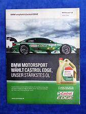 BMW Motorsport Castrol Edge - Werbeanzeige Reklame Advertisement 2013 __ (204