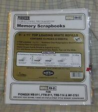 2 pks Pioneer Rw-85 8.5 x 11 Refill Pack 5ea. Sheet Protectors w/inserts + New