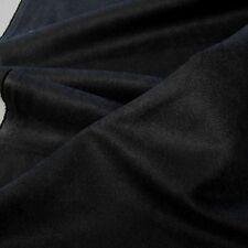 schwarz Alcantara Wild-Leder Polster Stoff Möbel weich robust Meterware Tolko