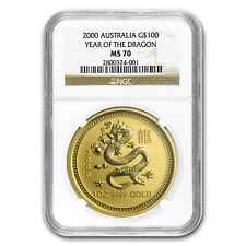 2000 1 oz Gold Lunar Year of the Dragon MS-70 NGC (Series I) - SKU#58860
