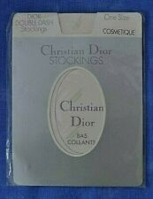 VINTAGE CHRISTIAN DIOR STOCKINGS WITH DOUBLE DASH DESIGN ONE SIZE / COSMETIQUE
