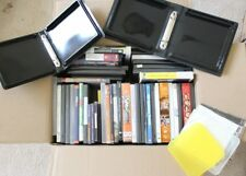 Large mixed lot of 50 CD DVD Blu-Ray Blank standard Slim Cases Holder Jewel Case