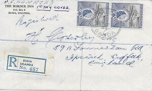 Kenya, Uganda, Tanganyika 1954  Registered  BUSIA