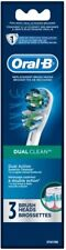 ORAL-B Dual Clean 3 Replacement Brush Heads for Power Toothbrushes Maxi Pack NEW