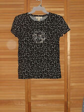 NEW WITH TAGS-WOMENS MICHAEL MICHAEL KORS TOP-BLACK/WHITE-EMBELLISHED-SIZE L