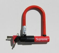 Supreme NYC Kryptonite U Lock Evolution Mini 5 Bicycle Red FW15 2015 NEW