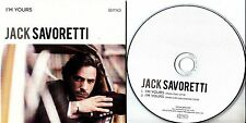 JACK SAVORETTI I'm Yours 2016 UK 2-track promo CD
