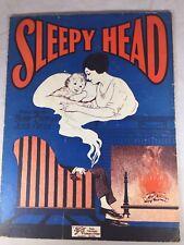 Vintage Sheet Music Sleepy Head Benny Davis Jesse Greer 1926