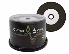 50 Xlayer Black Bottom Vinyl CD-R blank CD discs White Printable 48x 700MB