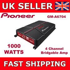 Pioneer 4 Channel Amplifier Four Channel Bridgeable Car Amp 1000 Watts GM-A6704