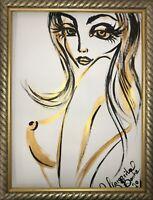 Margarita Bonke Malerei PAINTING art Bild erotica erotika akt abstract gold nu