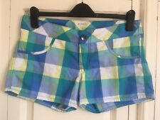 OAKLEY Ladies gorgeous blue check shorts 10-12