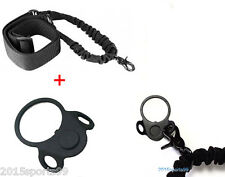 Tactical  QD 2 Position Receiver Sling 2AR Plate Mount Adapter & Bungee Sling
