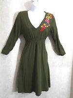 Johnny Was embroidered dress long sleeve size Medium