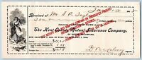 1905 KENT COUNTY DOVER DELAWARE MUTUAL INS CO*WOMAN CARRYING WHEAT LITHOGRAPH