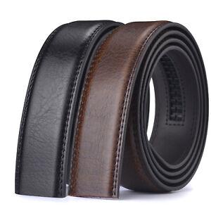 Luxury Men's Automatic Buckle Belt Ratchet Strap Black Brown Leather Strap Jeans