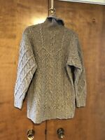 🔥 Vintage Laura Ashely Beige Pure New Wool Sweater Womens Size Small 🔥