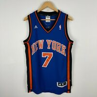 Adidas New York Knicks Basketball Jersey Mens Small Blue Sleeveless Anthony