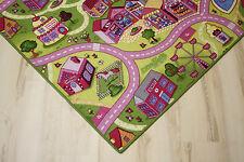 Straßenteppich Spielteppich Mädchen Teppich 200x300 cm pink rosa NEU!