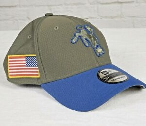 Indianapolis Colts NFL NewEra 39THIRTY Flex Hat Cap Salute To Service Olive Blue