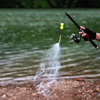 3Pcs Multi Size Fishing Net Trap Mesh With Luminous Bead Copper Spring Nettin uW