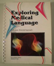 C218 EXPLORING MEDICAL LANGUAGE 2 ED. WEBER LAFLEUR W K STARR CV MOSBY COMPANY