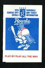 Kansas City Royals--1979 Pocket Schedule--KMBZ