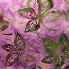 "Batik by Mirah Dusky Tahiti 100% Cotton Fabric 44/45"" Wide Green Purple SBY"