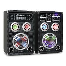 SYSTEME ACTIF ENCEINTES KARAOKE PA WOOFER 16CM EQ PORT USB SD MP3 LED 400W MAX