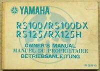 YAMAHA RS100 RS100DX RS125 RX125H Motorcycle Owners Manual 1981 #1YB-28199-85