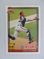 Sandy Alomar Cleveland Indians 1991 Topps Baseball Card 165