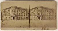 Germania Hannover Rheinischer Hof Hotel Foto Stereo L53S1n51 Vintage Albumina