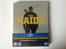 THE RAID 2 - UK  ENTERTAINMENT STORE EXCLUSIVE STEELBOOK NEW SEALED