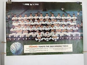 """Hamm's Beer Toasts 1969 Winning ~Minnesota~ Twins Poster #4450 13x19"""" LPIU 229"""