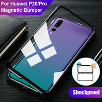 360° Magnetic Adsorption Tempered Glass Case Cover For Huawei P30 Pro / P30 Lite