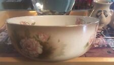 "CROWNFORD WARE England Pink Peony 8"" Serving Bowl #A2155D Pre WWII Hard to Find"