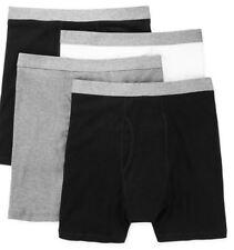 Stafford 4-Pack Men's 100% Cotton Boxer Briefs Black Grey White