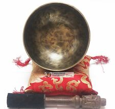 "5"" Antique Finishing Color Tibetan High quality Meditation Singing Bowl Set"