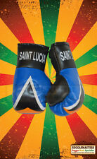 St Lucia Mini Boxing Gloves  HANG IN YOUR CAR ROOTS & CULTURE REGGAE