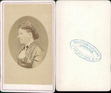 Chartier, Lunéville, Portrait de femme Vintage CDV albumen carte de visite C