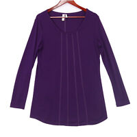 Sahalie Women's Purple Soft Long Sleeve Tunic Top - Size Medium
