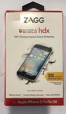 Zagg Invisible Shield HDX Extreme Impact Screen Protection for iPhone 5/5x/5c/SE